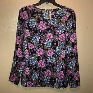 Ann Taylor,graphic floral shirt.  Size 2